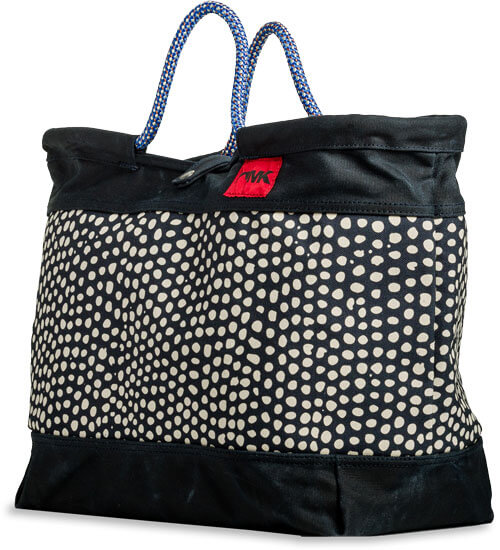 Mountain Khakis Limited Edition Market Tote - Navy Dot