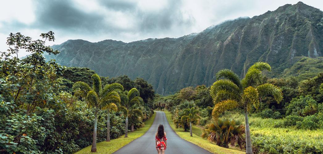 Girl on Hawaiian Road
