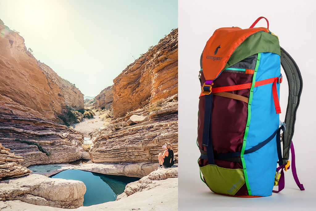 for the right active backpack for your trip, consider the Cotopaxi Tarak 20L Backpack