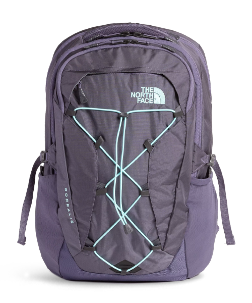 The North Face Womens Borealis Backpack - Greystone Blue Ripstop/Mint Blue