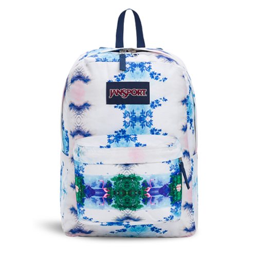 JanSport SuperBreak Backpack - Flamingo Garden