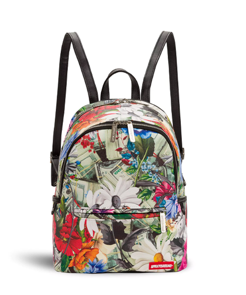 Sprayground Floral Money Mini Leather Backpack