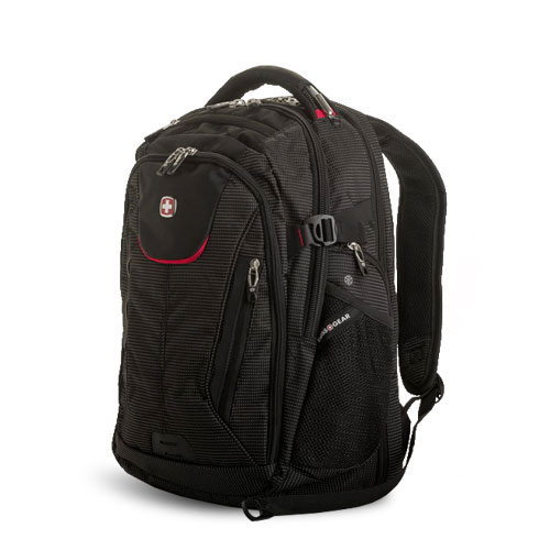 Swissgear 5358 USB ScanSmart Laptop Backpack in Black/Red