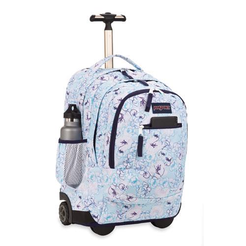 JanSport Driver 8 Backpack - Blue Sketch Floral